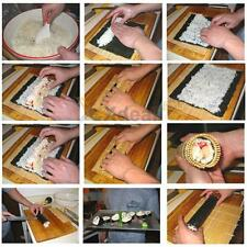 Japanese Bamboo Hand Roll Temaki Sushi Roller Rolling Maker Mat w/ A Rice Paddle