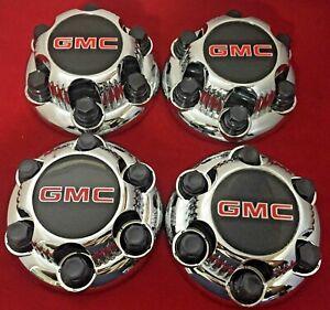 "4  Chrome GMC SIERRA SAVANA YUKON 6 Lug Center Caps for 16"" 17"" CHROME rims."