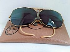 B&L Vintage Ray Ban  Aviator Shooter Sunglasses & Case - 10k GO - 1/30 - NICE!!!