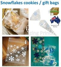 Snowflakes Cookies Loot Lolly Gift Bag Xmas Disney Frozen Wedding Party Supply