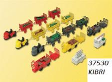New N scale Kibri 37530 Assorted Train Station Baggage Wagons : Model Kit