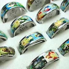 10pcs wholesale jewelry jesus enamel stainless steel rings free shipping