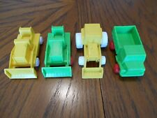 Vintage Plastic 4 Piece Toy Construction Set Made in Finland by Plasto Toys