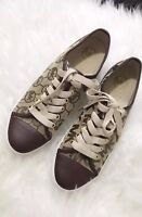 Michael Kors Leather Fashion Sneaker slip on Shoes size 6.5 Brown NEW authentic