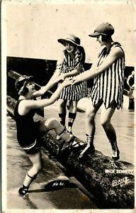 MACK SENNETT GIRLS BATHING BEAUTIES FLAPPERS OLD REAL PHOTO POSTCARD NO. 61