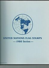 United Nations Flag Stamps First Day Covers 1980 Series 16 Covers w/Map (X3144)