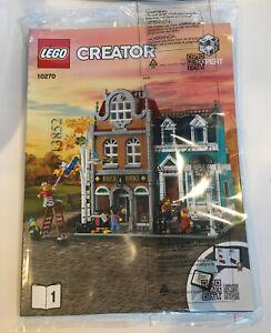 Lego Creator Expert Modular 10270  Bookshop INSTRUCTION MANUAL BOOKLET ONLY NEW