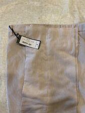 Zanella Mens Tan Beige Devon Flat Front 100% Cotton Corduroy Pants Size 42