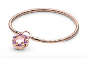 Pandora Heraldic Radiance Padlock Bracelet, PANDORA Rose™ 587635NPM