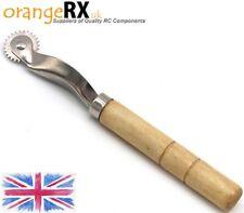 Premium Wooden Handle Pounce Wheel / Tracing Wheel - RC Plane building orangeRX