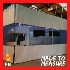 White & Clear Workshop Equipment Divider Body Repair Curtains 20Ft X 12Ft