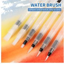 6 Piece Watercolour Paintbrush Art Pen Water Storage Artists Nylon Hair Bristle