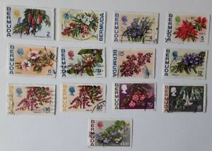 Bermuda 1970 Flowers Stamps Part Set Used SG.250-257, 259-259a, 261-262, 263a