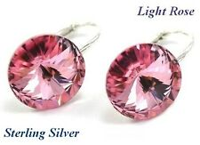 *STERLING SILVER* - RIVOLI - Light Rose Earrings made with SWAROVSKI Crystals