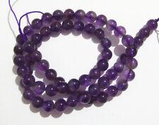 1filo/65pz  perline tondo  in ametista  naturale 6mm colore viola