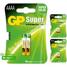 6 x GP AAAA 1.5V Alkaline Batteries MN2500 E96 GP25A LR61 25A Jabra Headset