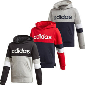 Adidas Boys Hoodies Sweatshirt Kids Tracksuit Training Hoody Sports Fleece Top