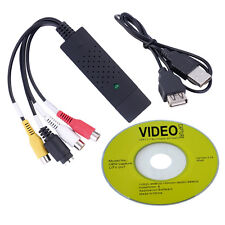 Black USB 2.0 Video Capture Card Converter PC Adapter TV Audio DVD DVR VHS D1qw