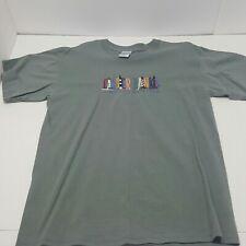 Outer Banks North Carolina Embroidered logo Tshirt Faded Gray Medium
