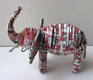 Recycled Soda Can Street Art Figurine Elephant Africa?