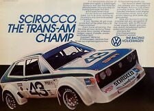 1976 VOLKSWAGEN SCIROCCO TRANS AM CHAMPION AD/PICTURE/PRINT 72 73 74 75  VW BUG