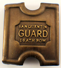 Anson Mills Belt Buckle San Quentin Guard Death Row Solid Brass  #C-12