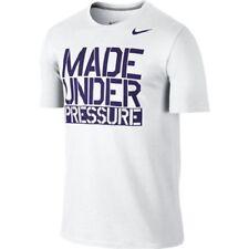 "Nike Men's Dri Fit  ""Made Under Pressure"" Cotton Tee Shirt White M/L/XL/XXL NWT"