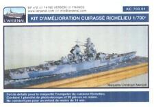 L'Arsenal Models 1/700 BATTLESHIP RICHELIEU Post 1943 Resin & PE Conversion Kit