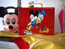 Disney Mickey Mouse suitcase comic TRUE VINTAGE 80s Kassetten Reise Kinderkoffer