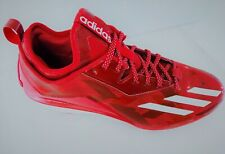 Adidas Metal Baseball Cleats Men's SIZE 13 Red/White B72823 *NEW*