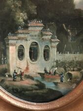 PAGODA ORIGINALE II 18 del XIX secolo cinese CERCHIO di George chinnery dipinto ad olio