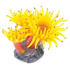 Concrete Base Silicone Coral Anemone Aquarium Plant Decoration L6