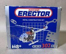 Vintage 1993 Meccano Erector Metal Construction Helicopter Set #302