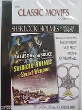Sherlock Homes and the Secret Weapon [DVD, 1943] NEW AND SEALED Region 2 PAL
