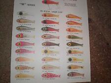 Bingo hump Fishing Lure Color Chart Copy