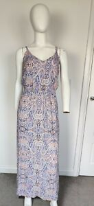 F&F Size 16  Colorful Long  Maxi Strappy Dress  Wedding Cruise Summer Holiday
