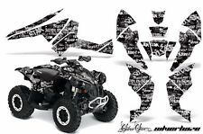AMR Racing CanAm Renegade500/800/1000 Graphic Kit Wrap Quad Decal ATV All SH WHT