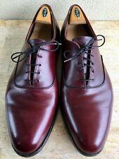 Vintage Cordwainer Wright Plain Toe Oxford Burgundy Color #8 13 D Balmoral MINT!