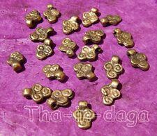 Lot 20 Perles Laiton 0,5cm Bijoux 100% Artisanat Inde Tha-in-daga 12