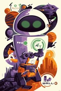 Wall-E by Tom Whalen Mondo Print Poster Art Licensed Disney Pixar Toy Aladdin