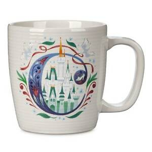 Disney Parks ABC Letters C is for Cinderella's Castle Ceramic Coffee Mug New