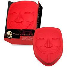 V For Vendetta - Guy Fawkes Silicone Mold / Ice Tray - New & Official In Pack
