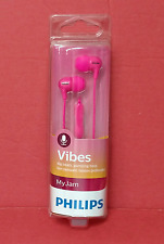 Philips SHE3555 Vibes In-Ear Headphones w/Mic, White Black Blue Pink ~ Free S/H