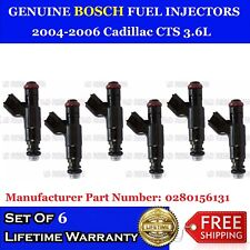 6x Genuine Bosch Fuel Injectors for 2004-2006 Cadillac CTS 3.6L #0280156131