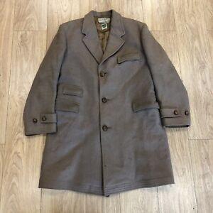 Mens Vintage Showerproof Trench Coat Large Brown B6096