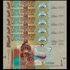 Lot 5 PCS, Kuwait 0.25 1/4 Dinar, 2014, P-29 New, UNC