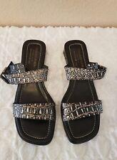 Donald J Pliner Womens Bronze Silver Ankara Slip On Flip Flops Sandals Size 8M