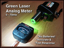 Green Laser Analog Meter 1mw to 70mw range Re-Engineered Ge Lightmeter with case