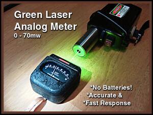 GREEN LASER ANALOG METER 1mw to 70mw range Re-Engineered GE Lightmeter with case