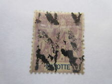 MAYOTTE  Scott 20  heavy cancel, Yvert 14, USED  F7  Cat  $130